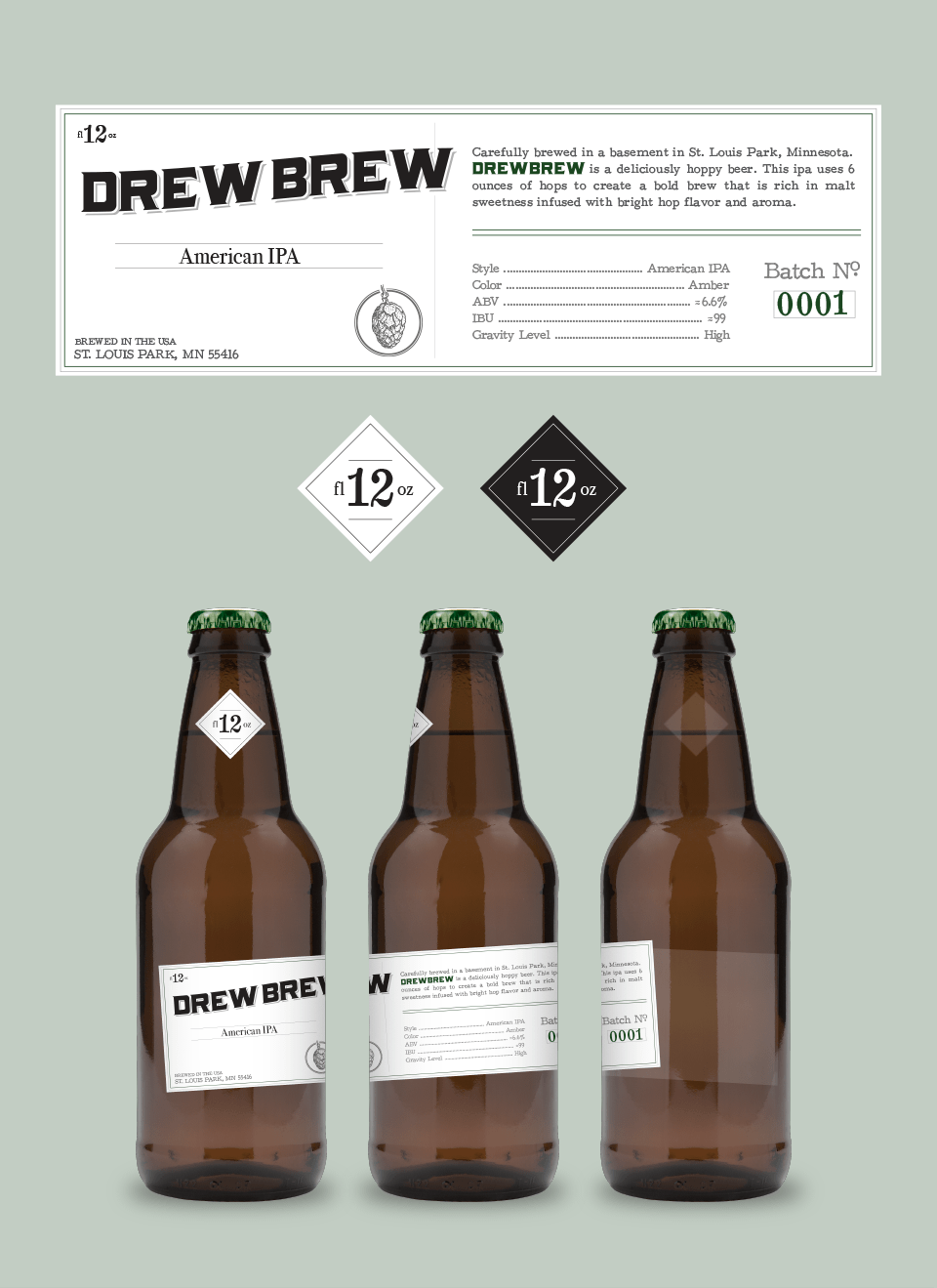 Drew Brew Label